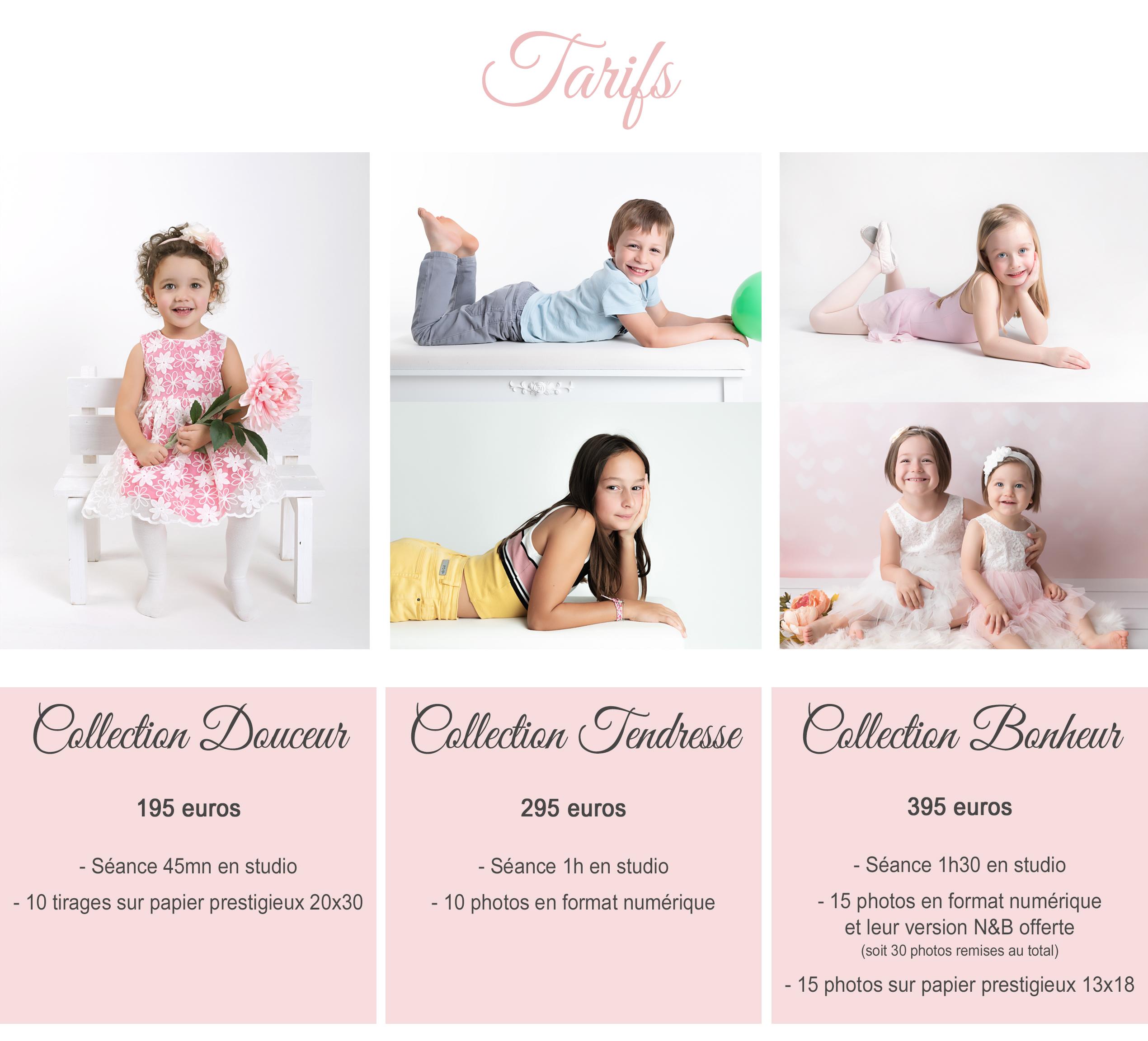 tarifs de votre photographe enfant en studio à Collonges dans l'Ain (01), Pays de Gex, Haute-Savoie ou Suisse