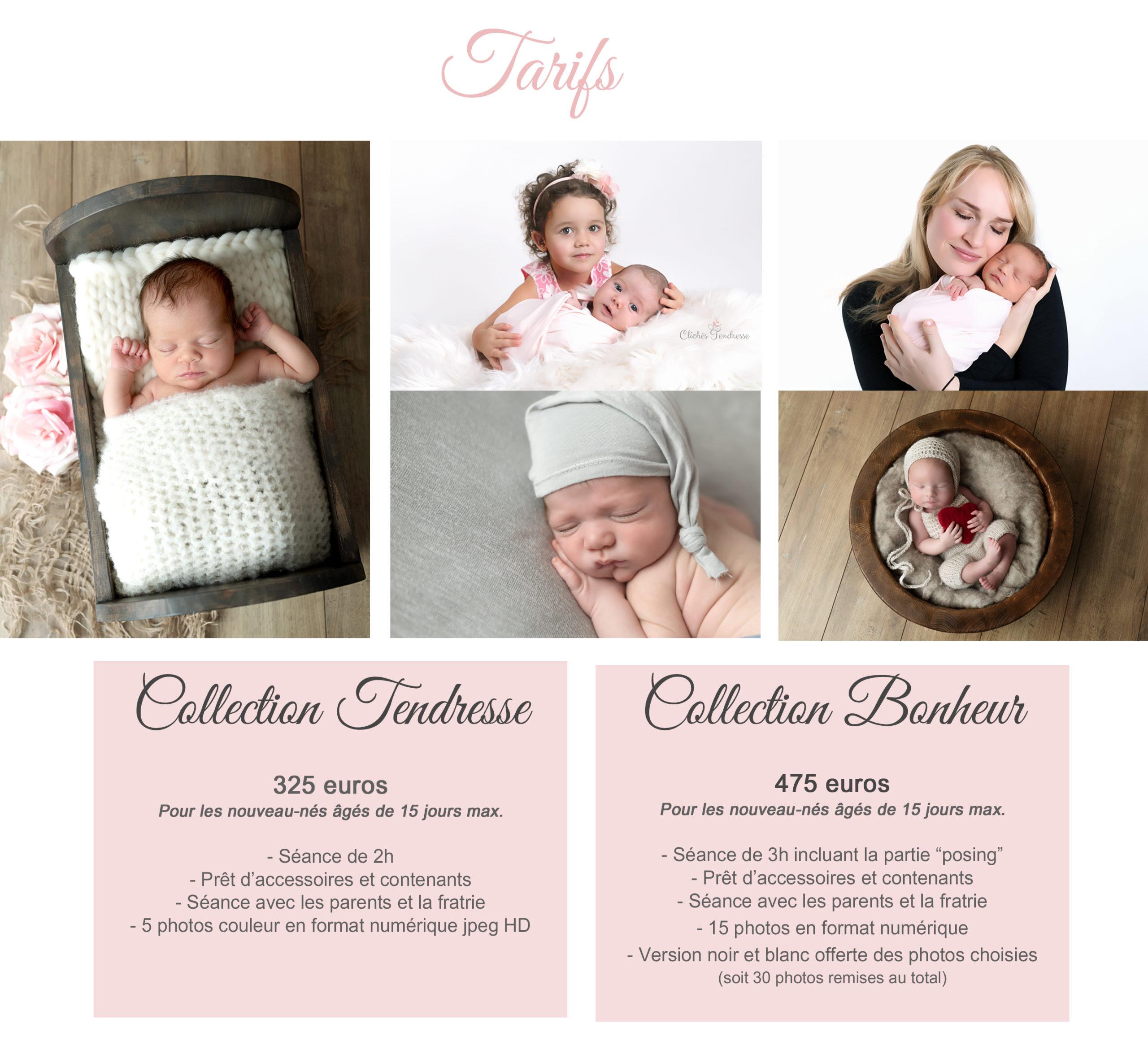 tarifs de votre photographe nouveau-né, bébé en studio dans l'Ain (01), Pays de Gex, Haute-Savoie ou Suisse